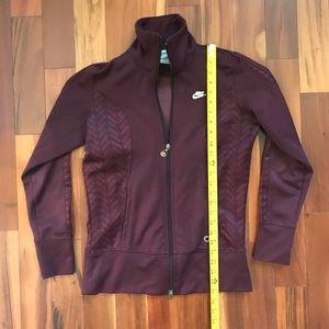 Nike maroon purple track yoga jacket size Small